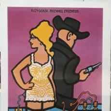Cine: LAMINA CARTEL DE CINE WESTWORLD ALMAS DE METAL 1973. Lote 206954051