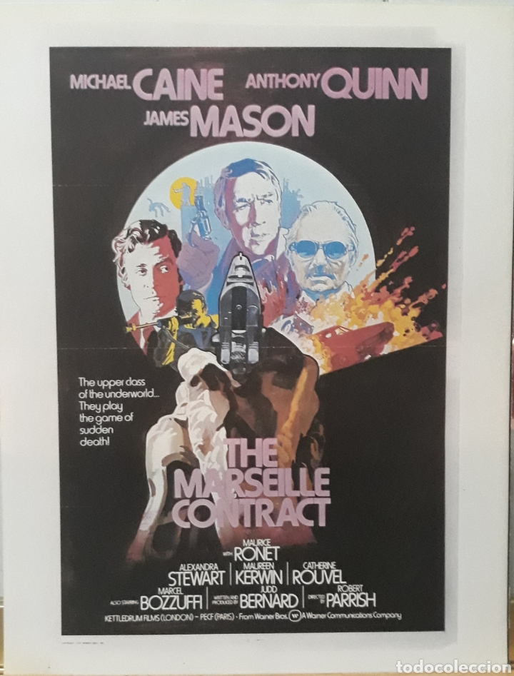 LAMINA CARTEL DE CINE THE MARSEILLE CONTRACT ROBERT PARRISH 1974 (Cine - Posters y Carteles - Suspense)