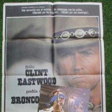 Cine: CARTEL CINE + 12 FOTOCROMOS BRONCO BILLY CLINT EASTWOOD 1980 CCF39. Lote 206974502