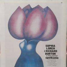 Cine: LÁMINA CARTEL DE CINE BREVE ENCUENTRO SOFÍA LOREN RICHARD BURTON 1974. Lote 206975606