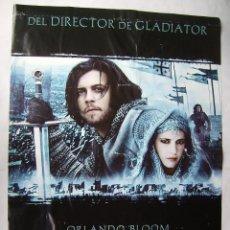 Cine: EL REINO DE LOS CIELOS , CON ORLANDO BLOOM. POSTER. 2005. TAMAÑO 68 X 98 CMS.. Lote 206992056