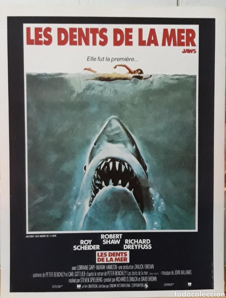 LAMINA CARTEL DE CINE TIBURÓN LES DENTS DE LA MER STEVEN SPIELBERG 1975 (Cine - Posters y Carteles - Suspense)