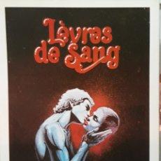 Cine: LAMINA CARTEL DE CINE LEURES DE SANG JEAN ROLLIN 1975. Lote 233087280