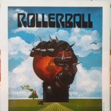 Cine: LAMINA CARTEL DE CINE ROLLERBALL NORMAN JEWISON 1975. Lote 207002350