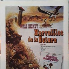 Cine: LAMINA CARTEL DE CINE MERVEILLES DE LA NATURE WALT DISNEY. Lote 207004650