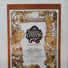 Cine: LAMINA CARTEL DE CINE BARRY LYNDON STANLEY KUBRICK 1975. Lote 207005108