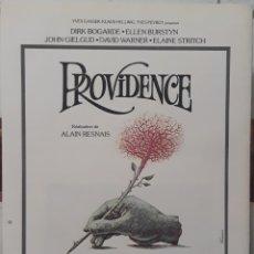 Cine: LAMINA CARTEL DE CINE PROVIDENCE ALIAN RESNAIS 1976. Lote 207049185