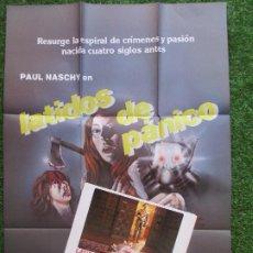 Cinema: CARTEL CINE + 12 FOTOCROMOS LATIDOS DE PANICO JULIA SALY 1983 CCF67. Lote 207098152