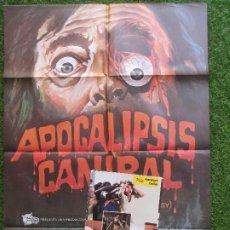 Cine: CARTEL CINE + 16 FOTOCROMOS APOCALIPSIS CANIBAL MARGI EVELYN NEWTON 1980 CCF68. Lote 262403205