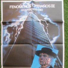 Cine: CARTEL CINE + 12 FOTOCROMOS POLTERGEIST III FENOMENOS EXTRAÑOS III 1988 CCF69. Lote 207099845
