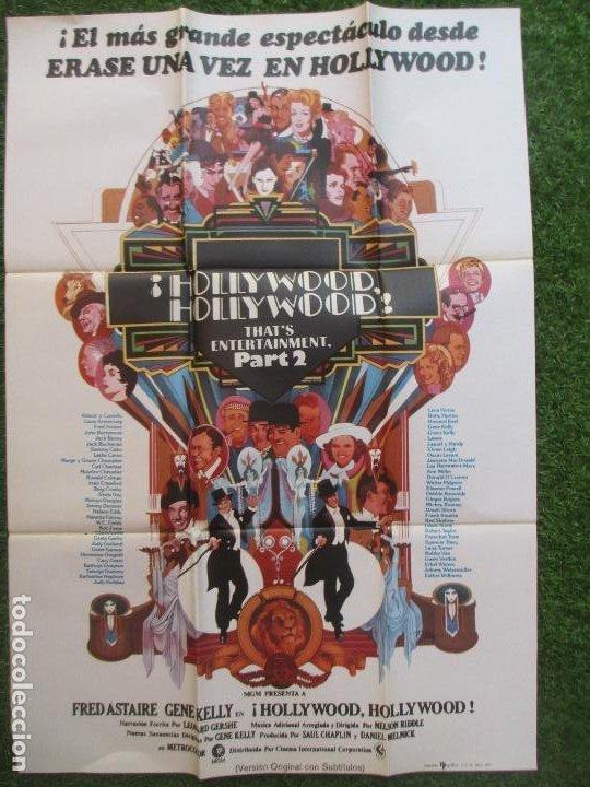 Cine: CARTEL CINE + 12 FOTOCROMOS ¡HOLLYWOOD, HOLLYWOOD! PART 2 FRED ASTAIRE GENE KELLY 1977 CCF77 - Foto 2 - 207105277