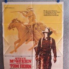 Cine: TOM HORN . STEVE MCQUEEN, RICHARD FARNSWORTH. AÑO 1980. POSTER ORIGINAL. Lote 207119127