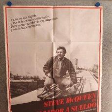 Cine: CAZADOR A SUELDO . STEVE MCQUEEN, ELI WALLACH. AÑO 1980. POSTER ORIGINAL. Lote 207119396