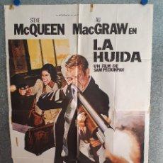 Cine: LA HUIDA.STEVE MCQUEEN, ALI MACGRAW. AÑO 1980. POSTER ORIGINAL. Lote 207119748