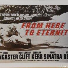 Cine: LAMINA CARTEL DE CINE FROM HERE TO ETERNITY FRED ZINNEMANN 1953. Lote 207154078
