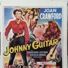 Cine: LAMINA CARTEL DE CINE JOHNNY GUITAR NICHOLAS RAY 1953. Lote 207154162