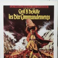 Cine: LAMINA CARTEL DE CINE LOS DIEZ MANDAMIENTOS CECIL B. DE MILLER 1954-56. Lote 207154283