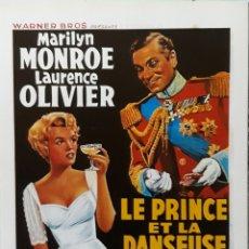 Cine: LAMINA CARTEL DE CINE EL PRÍNCIPE Y LA CORISTA MARILIN MONROE LAURENCE OLIVIER 1957. Lote 207154521