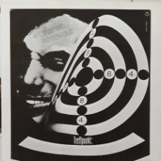 Cine: LAMINA CARTEL DE CINE SCHIEBEN SIE AUF DEN PIANISTEN CHARLES AZNAVOUR 1960. Lote 207154680