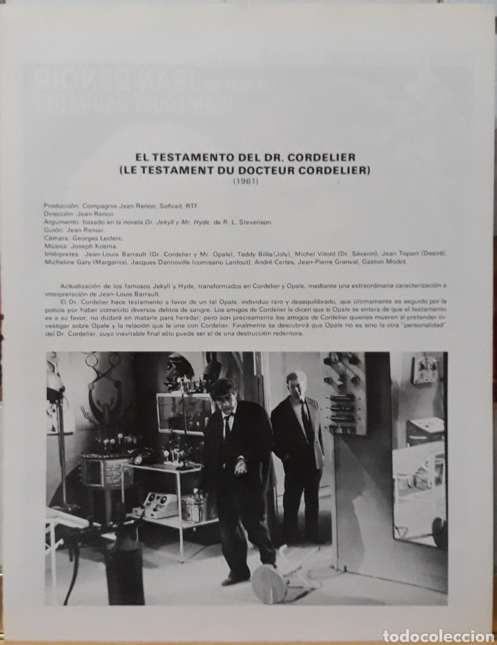 Cine: Lamina cartel de cine le testament du docteur cornelier 1961 - Foto 2 - 207154992