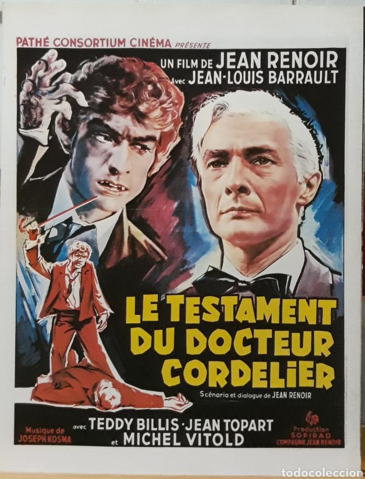 LAMINA CARTEL DE CINE LE TESTAMENT DU DOCTEUR CORNELIER 1961 (Cine - Posters y Carteles - Suspense)