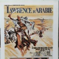 Cine: LAMINA CARTEL DE CINE LAWRENCE DE ARABIA DAVID LEAN 1962. Lote 207155110