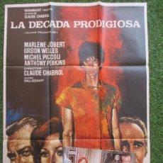 Cine: CARTEL CINE + 12 FOTOCROMOS LA DECADA PRODIGIOSA MARLENE JOBERT 1972 CCF79. Lote 207157103