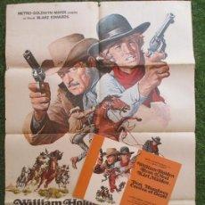 Cine: CARTEL CINE + 9 FOTOCROMOS DOS HOMBRES CONTRA EL OESTE WILLIAM HOLDEN 1971 CCF85. Lote 207158903