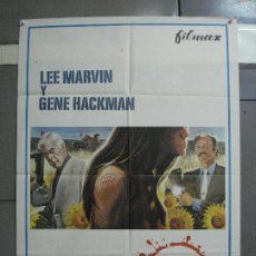 Cine: CDO 2798 CARNE VIVA LEE MARVIN GENE HACKMAN POSTER ORIGINAL 70X100 ESTRENO. Lote 207172756