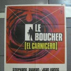 Cine: CDO 2800 LE BOUCHER EL CARNICERO CLAUDE CHABROL POSTER ORIGINAL 70X100 ESTRENO. Lote 207178717