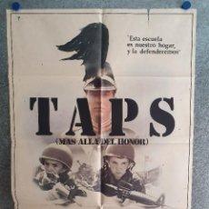Cine: TAPS, MÁS ALLÁ DEL HONOR. GEORGE C. SCOTT, TIMOTHY HUTTON, SEAN PENN AÑO 1982. POSTER ORIGINAL. Lote 207187686