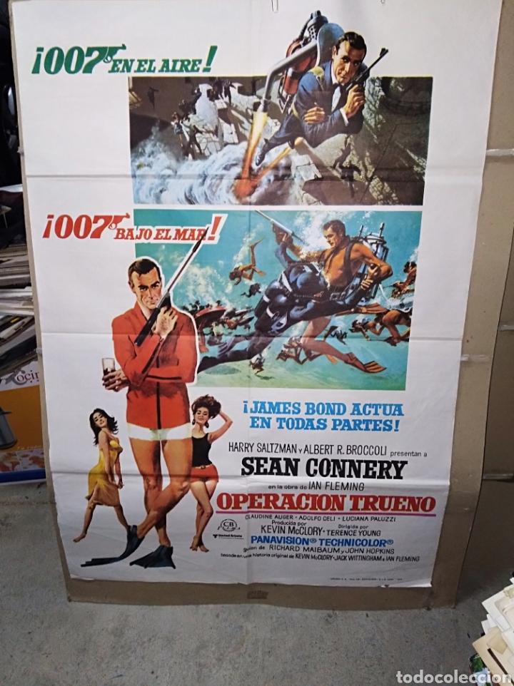 OPERACIÓN TRUENO SEAN CONNERY JAMES BOND 007 POSTER ORIGINAL 70X100 REP 1976 (Cine - Posters y Carteles - Acción)