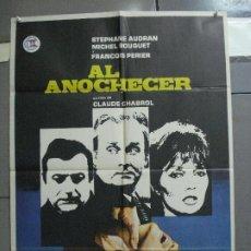 Cine: CDO 2809 AL ANOCHECER CLAUDE CHABROL STEPHANE AUDRAN MICHEL BOUQUET POSTER ORIGINAL ESTRENO 70X100. Lote 207199342