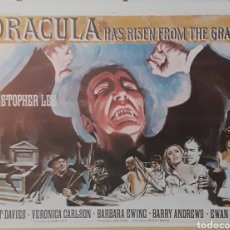 Cine: LAMINA CARTEL DE CINE DRACULA HAS RISEN FROM THE GRAVE CHRISTOPHER LEE 1968. Lote 207207771