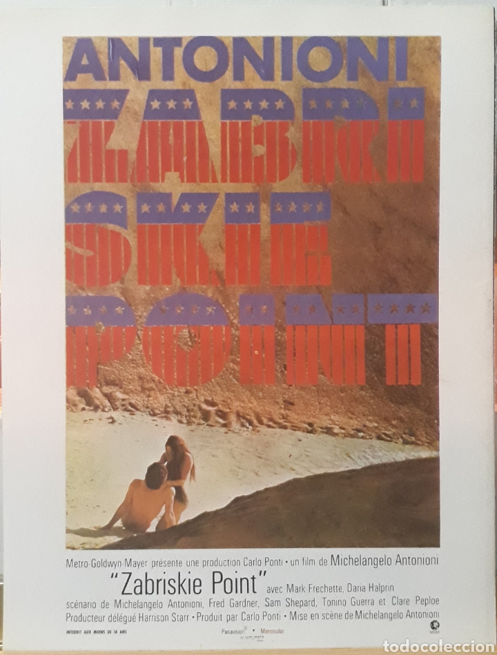 LAMINA CARTEL DE CINE ZABRISKIE POINT MICHELANGELO ANTONIONI 1969 (Cine- Posters y Carteles - Drama)