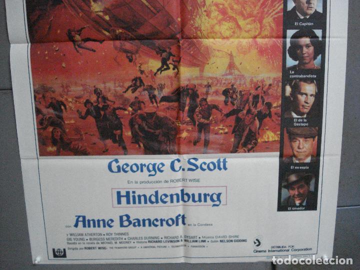 Cine: CDO 2831 HINDENBURG GEORGE C. SCOTT ZEPPELIN POSTER ORIGINAL 70X100 ESTRENO - Foto 3 - 207220917