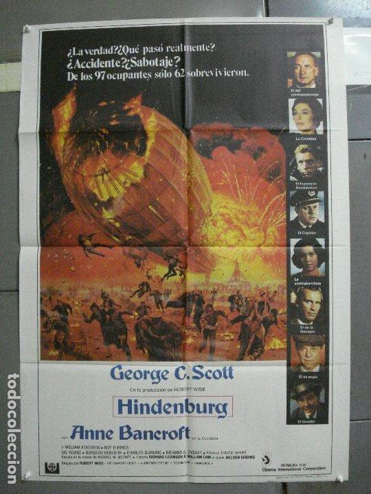CDO 2831 HINDENBURG GEORGE C. SCOTT ZEPPELIN POSTER ORIGINAL 70X100 ESTRENO (Cine - Posters y Carteles - Suspense)