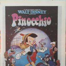 Cine: LAMINA CARTEL DE CINE PINICCHIO WALT DISNEY 1940. Lote 207221330