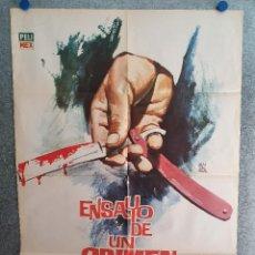 Cine: ENSAYO DE UN CRIMEN. LUIS BUÑUEL - MIROSLAVA, ERNES. ALONSO, ARIADNE W. AÑO 1965. POSTER ORIGINAL. Lote 207230547