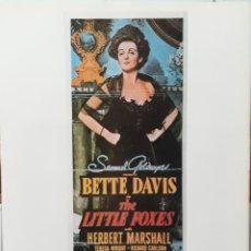 Cine: LAMINA CARTEL DE CINE THE LITTLE FOXES WILLIAM WYLER 1941. Lote 207253115