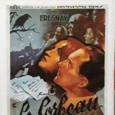 Cine: LAMINA CARTEL DE CINE LE CORBEAU HENRI GEORGES 1943. Lote 207253585