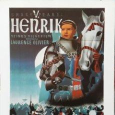 Cine: LAMINA CARTEL DE CINE HENRY V LAURENCE OLIVIER 1944. Lote 207253795