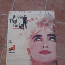 Cine: POSTER. WHO´S THAT GIRL. MADONNA.. Lote 207304738