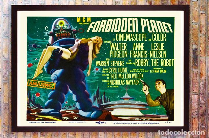 CARTEL VINTAGE DE PELICULA - PLANETA PROHIBIDO -TAMAÑO 68 X 53,5 CMS (Cine - Posters y Carteles - Ciencia Ficción)