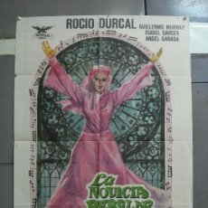 Cine: CDO 2865 LA NOVICIA REBELDE ROCIO DURCAL POSTER ORIGINAL 70X100 ESTRENO. Lote 207524658