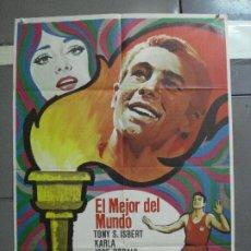 Cine: CDO 2867 EL MEJOR DEL MUNDO TONY ISBERT JOSE BODALO ATLETISMO POSTER ORIGINAL 70X100 ESTRENO. Lote 207528067