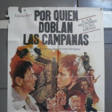 Cine: CDO 2868 POR QUIEN DOBLAN LAS CAMPANAS GARY COOPER GUERRA CIVIL POSTER 70X100 ORIGINAL ESTRENO. Lote 207528858