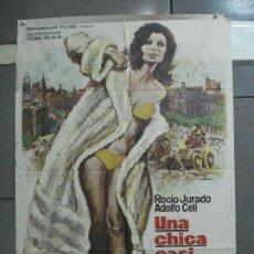 Cinema: CDO 2879 UNA CHICA CASI DECENTE ROCIO JURADO LA CIBELES MAC POSTER ORIGINAL ESTRENO 70X100. Lote 207546136