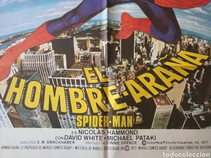 Cine: Cartel original Estreno cines en España película: EL HOMBRE ARAÑA (SPIDERMAN) Año: 1977 - Foto 4 - 207554757