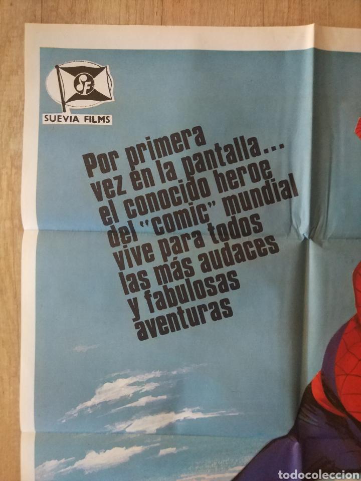 Cine: Cartel original Estreno cines en España película: EL HOMBRE ARAÑA (SPIDERMAN) Año: 1977 - Foto 6 - 207554757